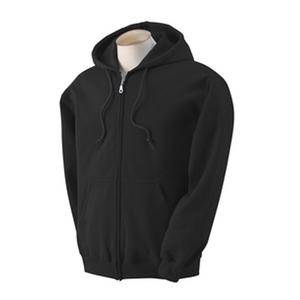Gildan hosszúhúzózáras kapucnis pulóver - fekete