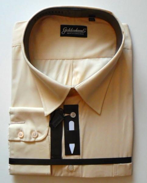 Goldenland, hosszú ujjú, okkersárga ing