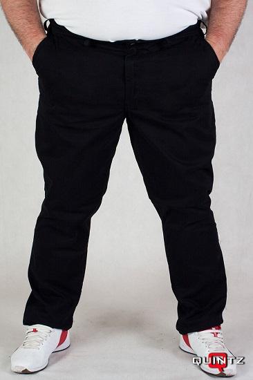 """""""Quintz"""" - sztrech svédzsebes vászon nadrág -fekete"""