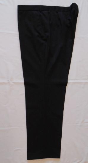 Gyapjú öltönynadrág - fekete