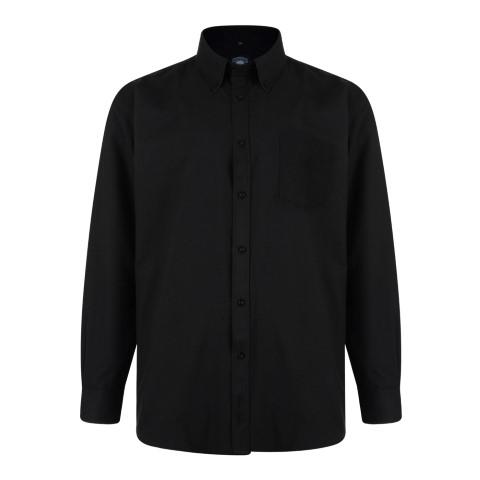 Hosszú ujjú fekete ing
